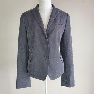 Akris Punto point check wool silk blend blazer